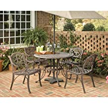 Home styles 5555-308 5PC 42in. Round Outdoor Dining Set Rust Brown Finish