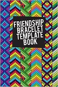 Amazon Com Friendship Bracelet Template Book Blank Patterns For 8 String Bracelets 9781720134541 Templates Cutiepie Books