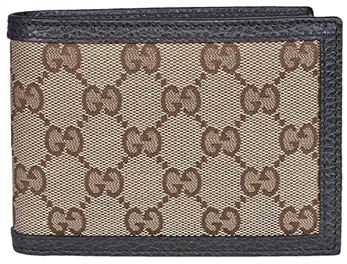 Gucci Men's Canvas Leather GG Guccissima Bifold Wallet (Beige/Brown) ()