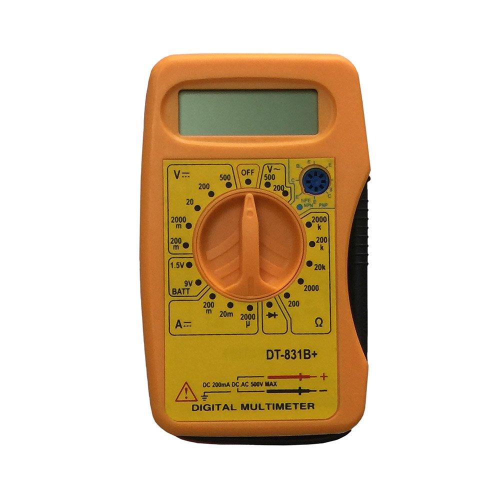 OLSUS DT-831B LCD Handheld Digital Multimeter for Home and Car - Yellow