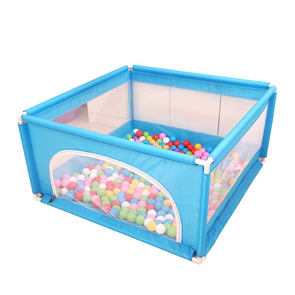 ベビーサークル ドアが付いている青い赤ん坊のベビーサークル、 キッズ活動安全センター プレイヤード、 幼児のためのホーム屋内屋外 (サイズ さいず : 120x120x62cm) 120x120x62cm  B07PX9R5F8
