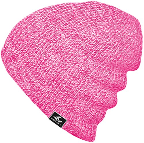 Pink Womens Beanie - Koloa Surf Co. Original Soft & Cozy Beanies - Pink/White Heathered