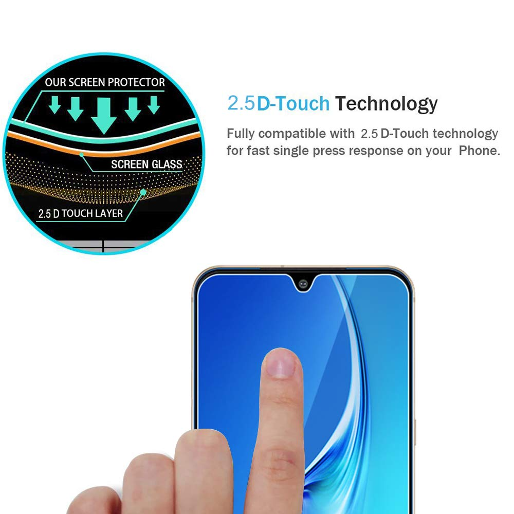 [3 Pack] Screen Protector for LG V60 Thinq(Not Work with Dual Screen),Scratch Resistant Anti-Fingerprint HD Tempered Glass for LG V60 Thinq with Easy Installation Tray
