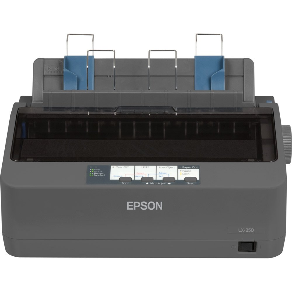 Epson C11CC24001 LX-350 Dot Matrix Printer - 9 pin - Up to 347 char/sec - Parallel/Serial/USB by Epson