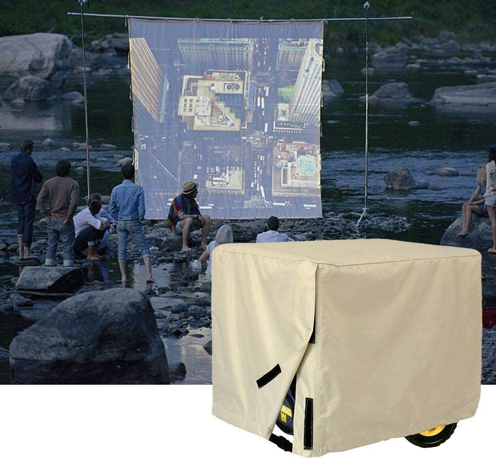 soundwinds Impermeabile generatore di Outdoor generatore di Oxford Poliestere Copertura Protettiva Beige Yellow-32l*24 h*24 w