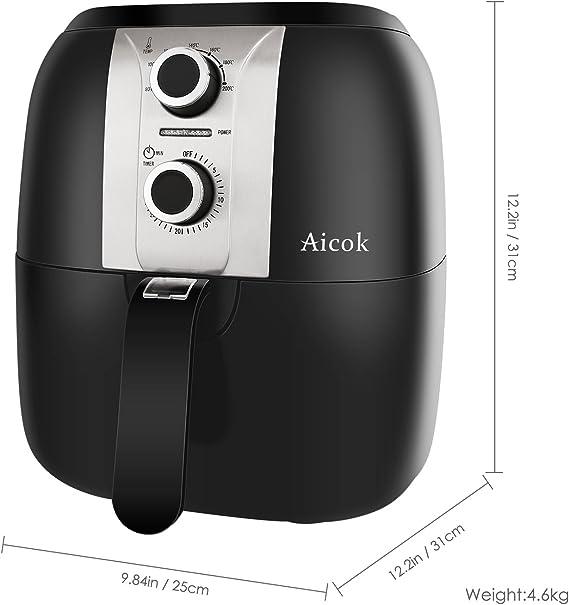 Aicok AirFryer, Freidora sin Aceite por Aire Caliente, Fríe ...
