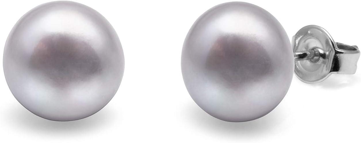 Pendientes Perlas Cultivadas Diamante Cz Plata 1º Ley .925 Nuevos.