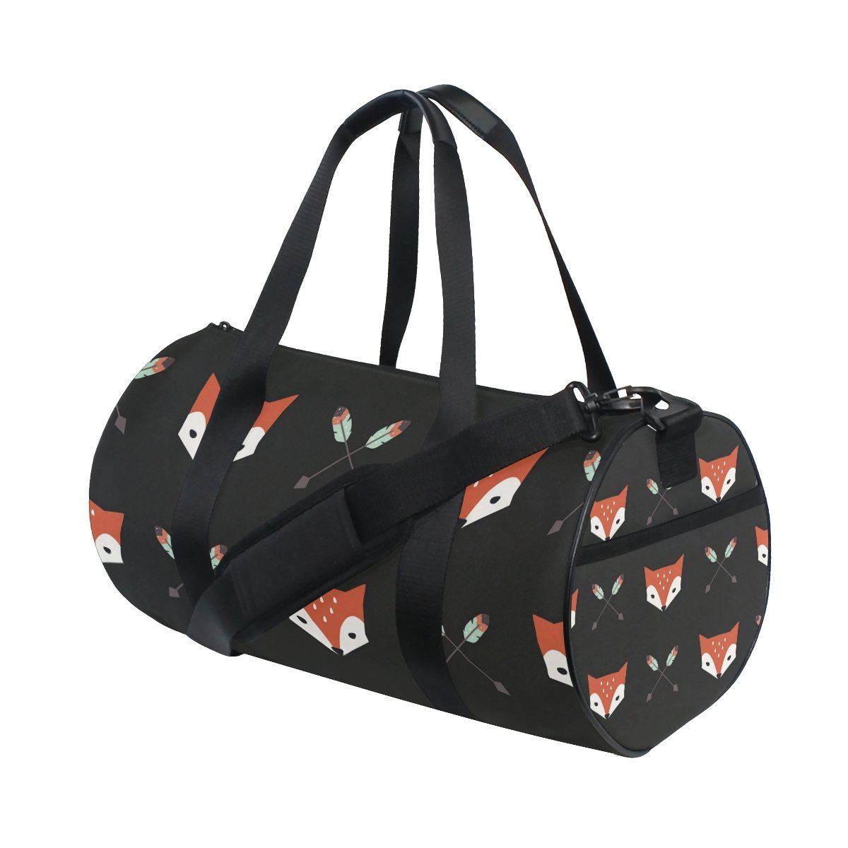 Fox And Arrows Travel Duffle Bag Sports Luggage with Backpack Tote Gym Bag for Man and Women