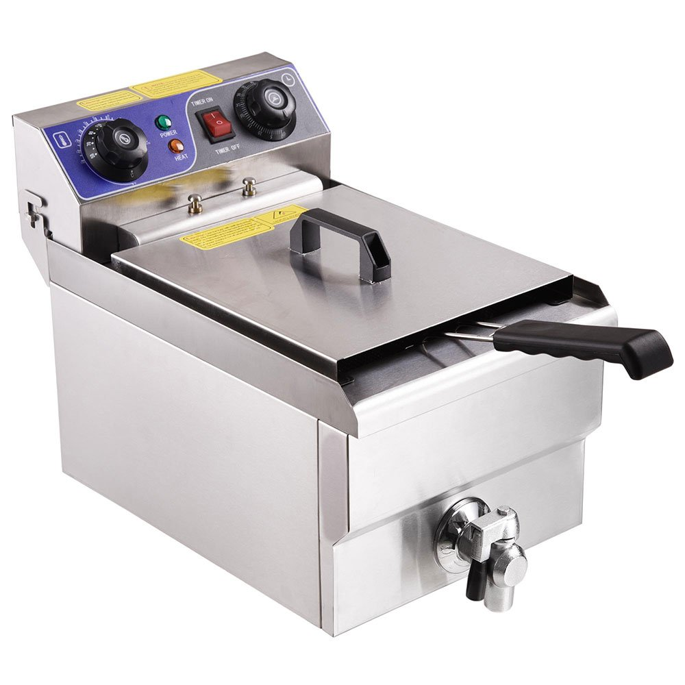 Yescom Commercial Professional Electric 11.7L Deep Fryer Timer and Drain Stainless Steel French Fry Restaurant Kitchen by Yescom (Image #3)
