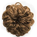 OneDor® Ladies Synthetic Wavy Curly or Messy Dish Hair Bun Extension Hairpiece Scrunchie Chignon Tray Ponytail (27#)