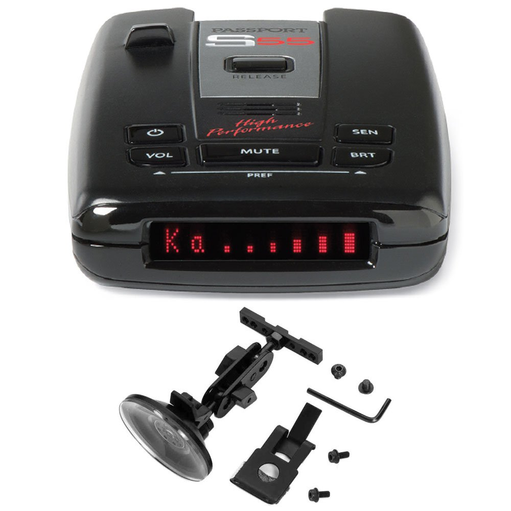 Escort PASSPORT S55 Radar/Laser Detector with Accessories Combo Bundle (Blue) by Escort