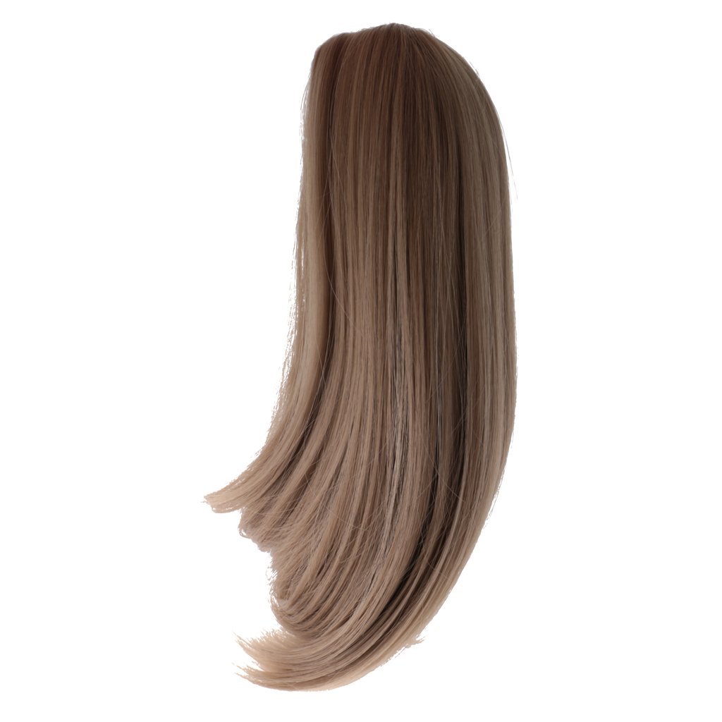 MagiDeal Khaki Long Straight Wig Hairpiece Wigs Hair for 18 Inch American Girl Doll Accessories 4336857363