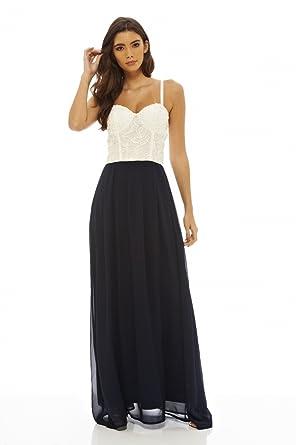 8518364990 AX Paris Women s Crochet Top Maxi Dress at Amazon Women s Clothing ...