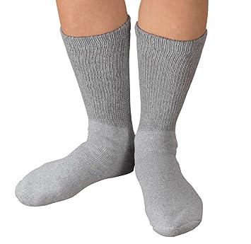 430fd7b7541 Amazon.com  Diabetic Socks for Men and Women  Gray
