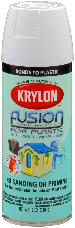 Krylon K02320007 Fusion For Plastic Aerosol Spray Paint, 12-Ounce, Gloss White by Krylon