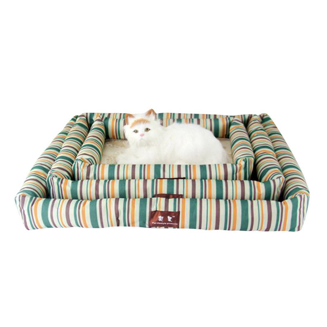 Huihuger Pet Blanket Letto per Cani Estivo Estivo Estivo Pet Cooling Sleeping Mat Letto per Gatti Cuscino verde e Giallo XL a34719