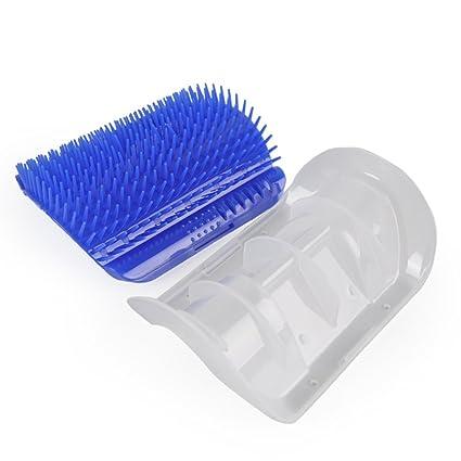 Cepillo de pelo para gatos y mascotas, esquina, dispositivo de masaje, cepillo para