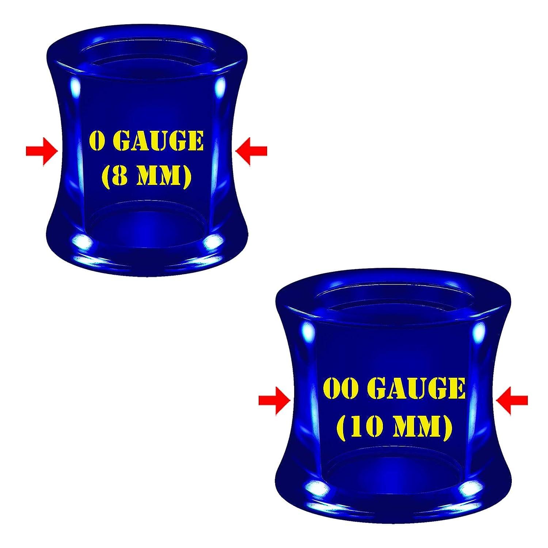 Amazon.com: 2 pares de pendientes de acrílico azul oscuro ...