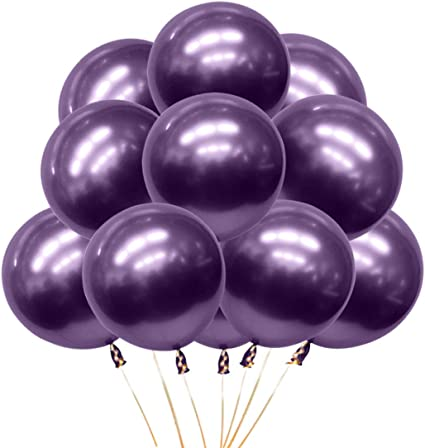 5 inch Purple Metal Balloons Quality Latex Balloons Helium Balloons Party Decorations Supplies Pack of 50