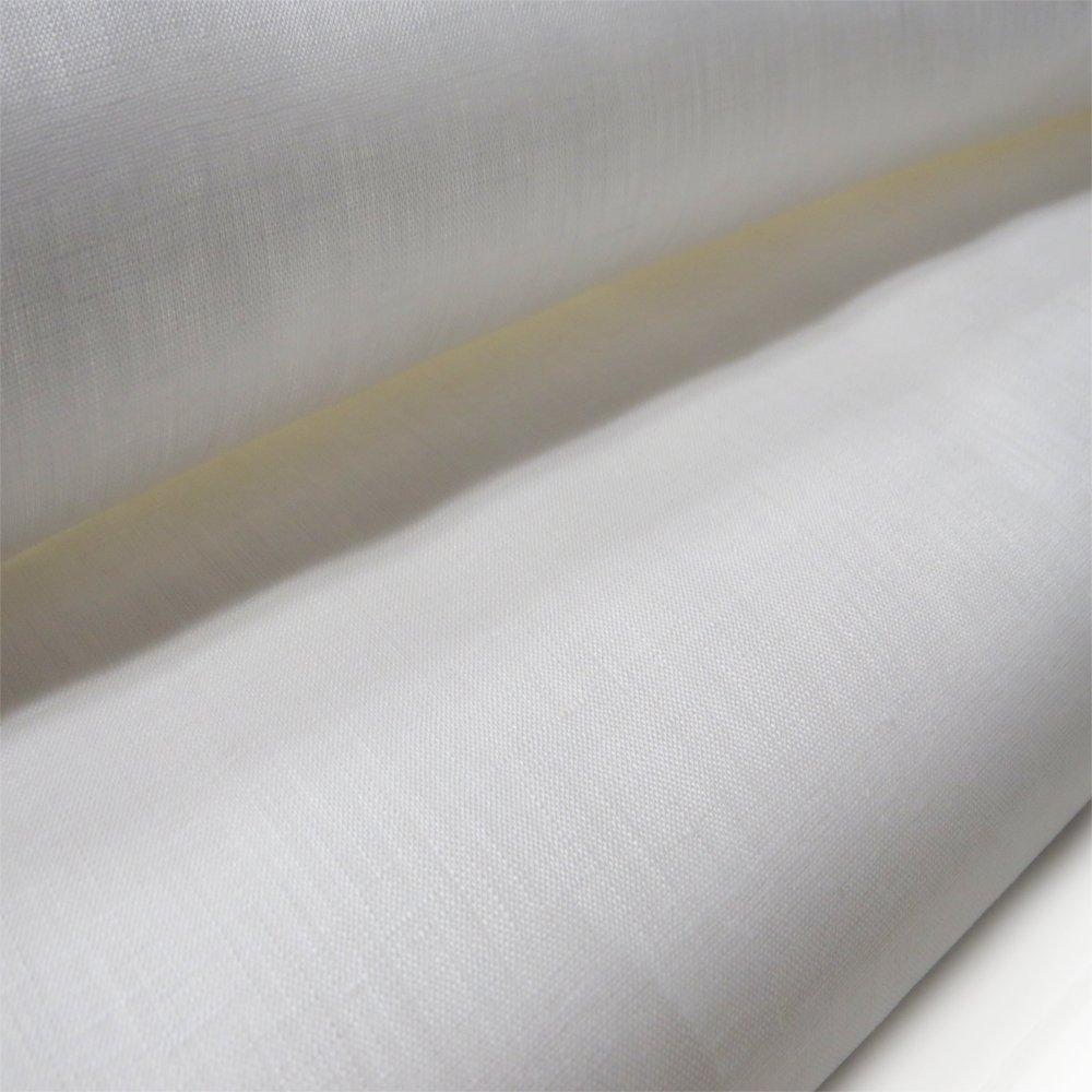 "Irish Handkerchief Linen, Estopilla- 35-36"" Wide, Over 100 Yards in Stock – 100% Irish Handkerchief Linen Fabric – Many Colors Available – White by Burlap Fabric (Image #1)"