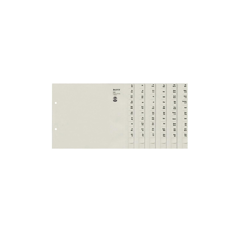f/ür 100 Ordner Leitz 13520085 Registerserie A-Z A4 grau Papier