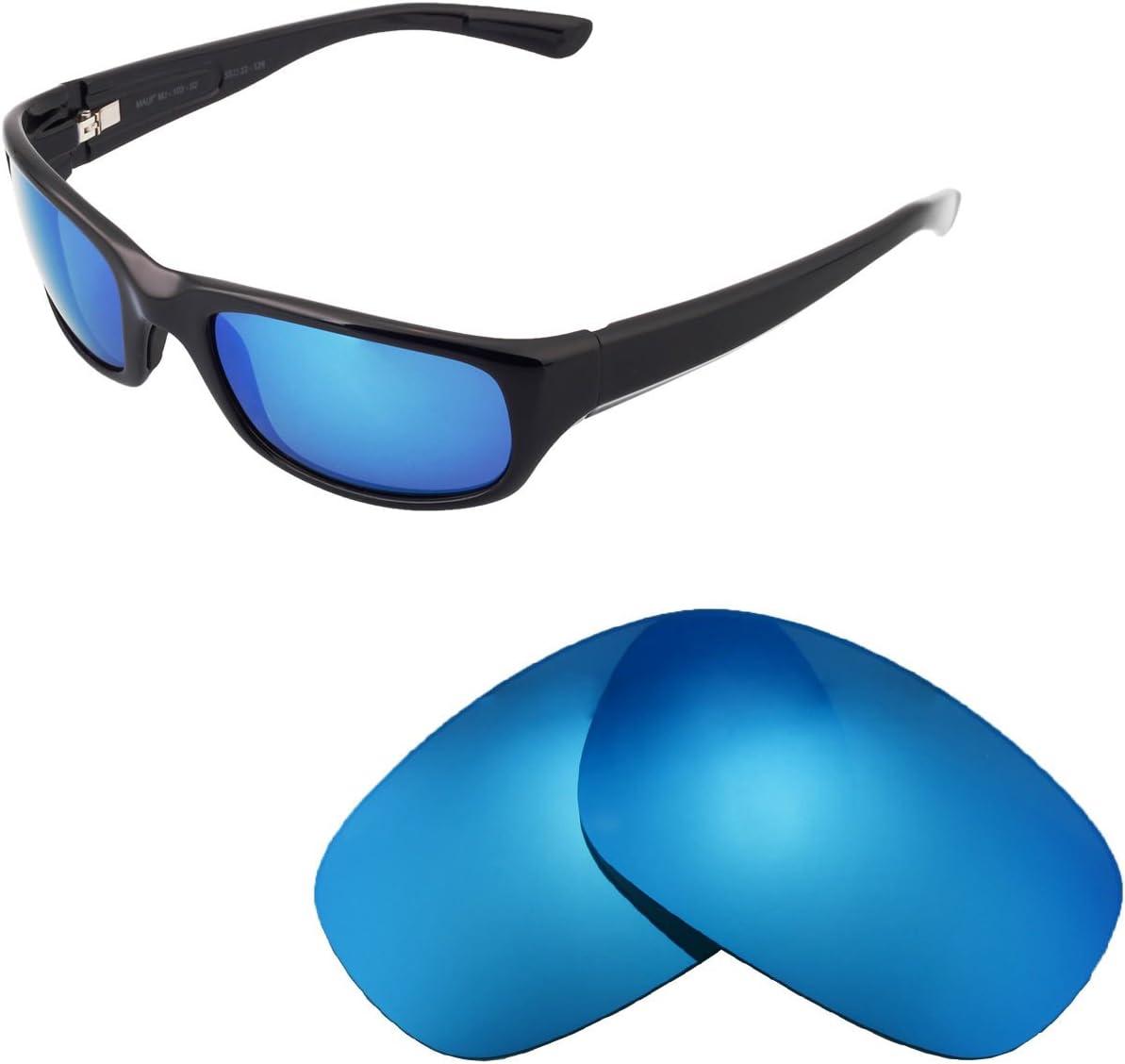 Walleva Polarized Ice Blue Replacement Lenses For Maui Jim Stingray Sunglasses