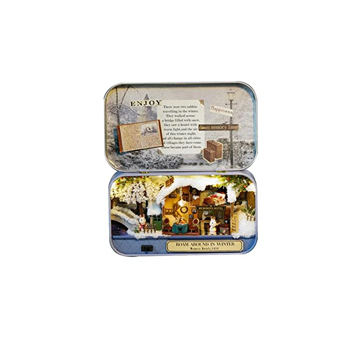 Amazon.com: Aolvo - Kit de casa de muñecas, miniatura 3D ...
