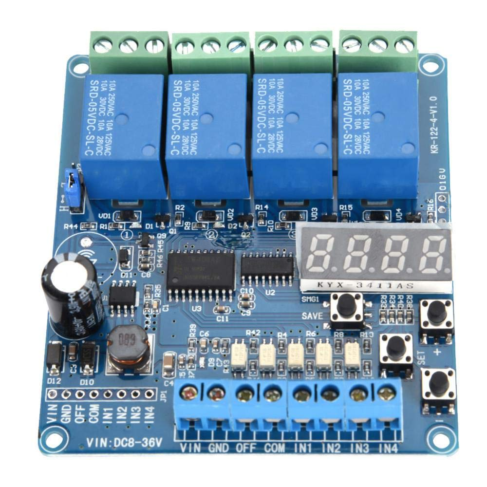 8-36V Relay Module 4-channel Multifunction Time Delay Relay Interface Board Module Optocoupler LED