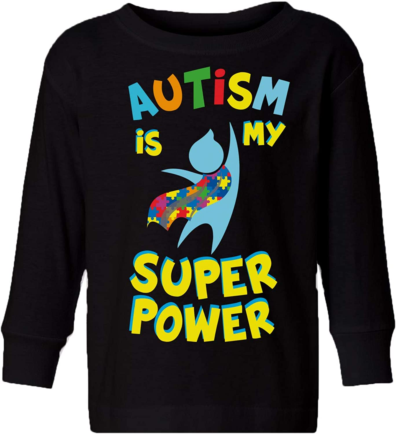 Awkward Styles Autism Toddler Long Sleeve Shirt Autism is My Super Power Kids T-Shirt