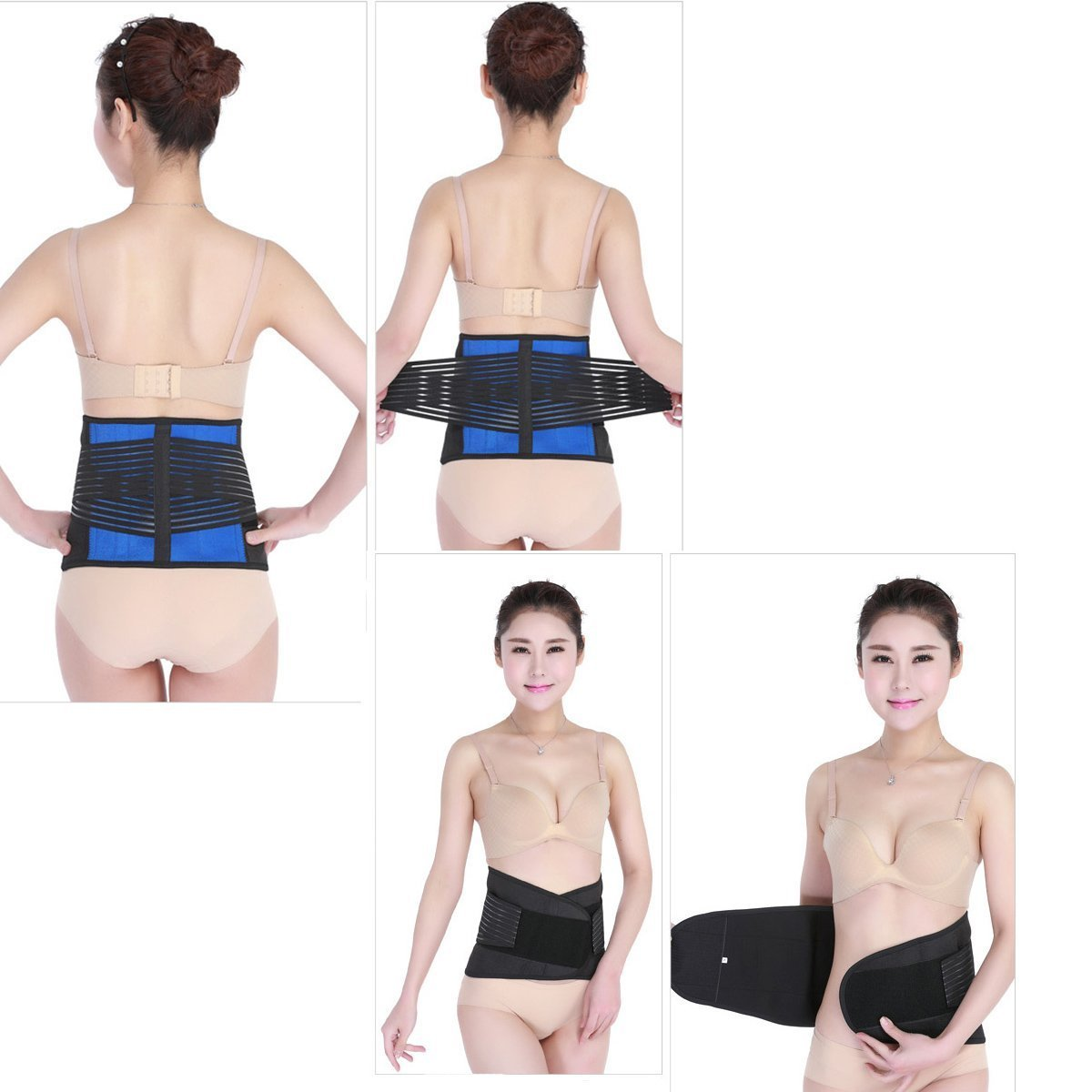 WONFAST Deluxe Neoprene Double Pull Lumbar Lower Back Support Brace Exercise Belt Waist Trainer Trimmer Belt with Dual Adjustable Straps Abdominal Binder Belly (5X-Large/54-58'') by WONFAST (Image #6)