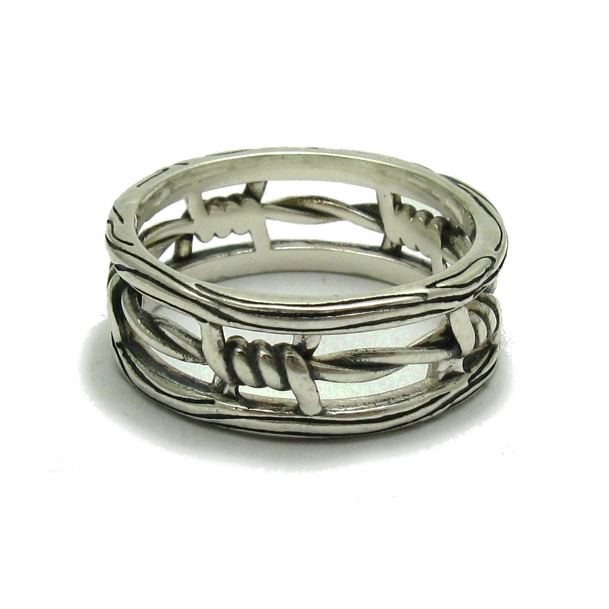Sterling silber ring solide 925 Schlange R001843 Empress