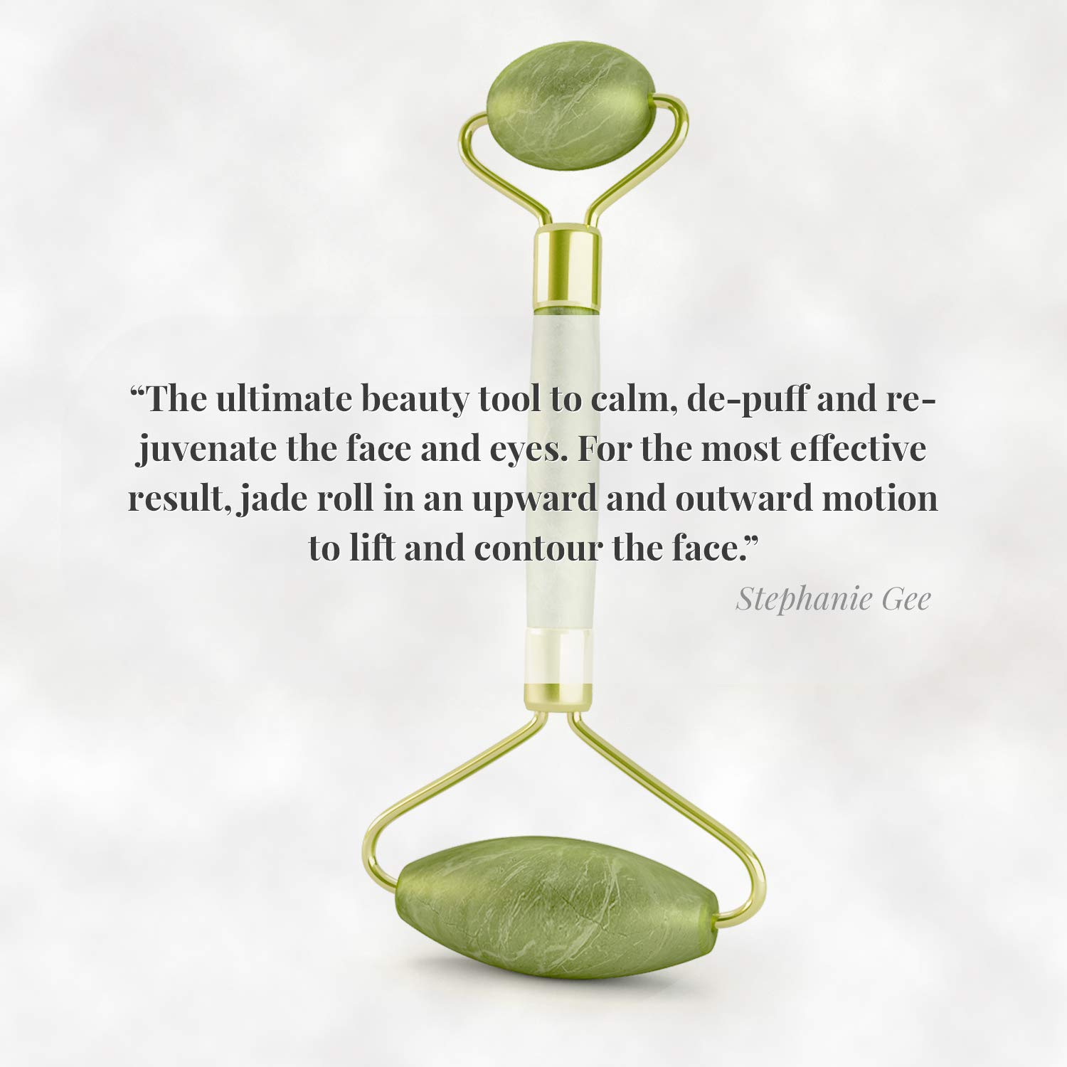 Natural 2 in 1 Jade Roller For Face - Gua Sha Scraping - Aging Wrinkles, Puffiness Facial Skin Massager Treatment Therapy - Premium Authentic Himalayan Jade Stone - Include Bag by MAKADY (Image #5)
