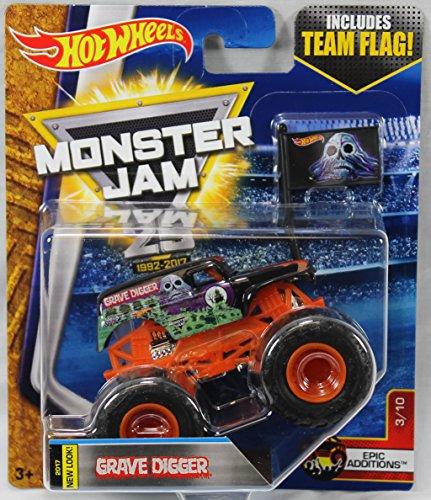 Hot Wheels Monster Jam 2017 Epic Additions Grave Digger 1:64