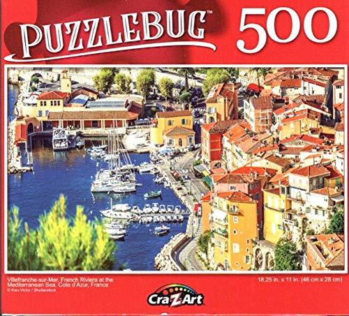 Villefranche - sur - Mer, Frech Riviera at The Mediterranean Sea, Cote dAzur, France - 500 Piece Jigsaw Puzzle - Puzzlebug