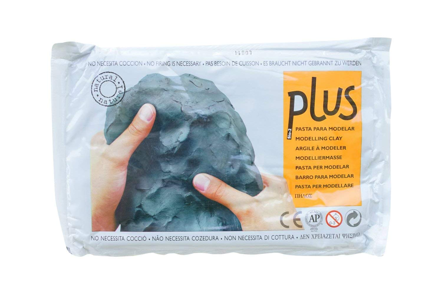 Activa Plus Clay Natural Self-Hardening Clay Black 2.2 pounds (4 Units)