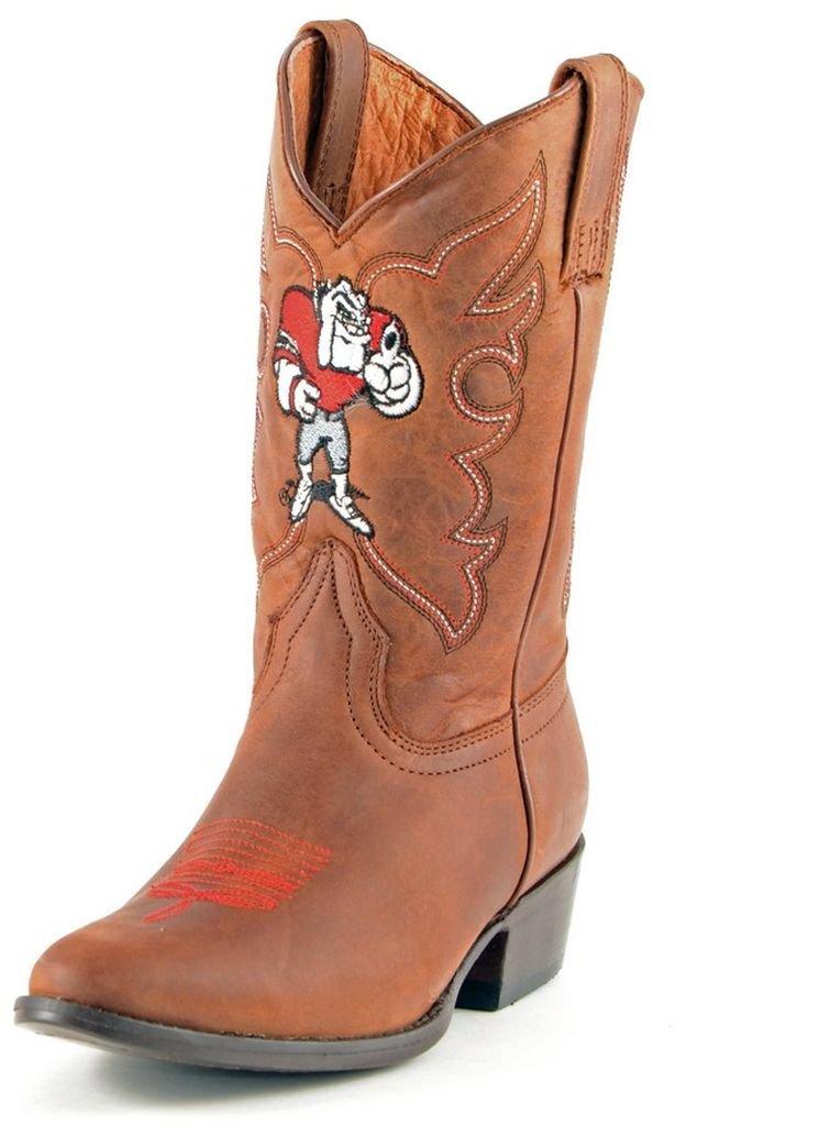 NCAA Georgia Bulldogs Boys Gameday Boots, Honey, 13.5