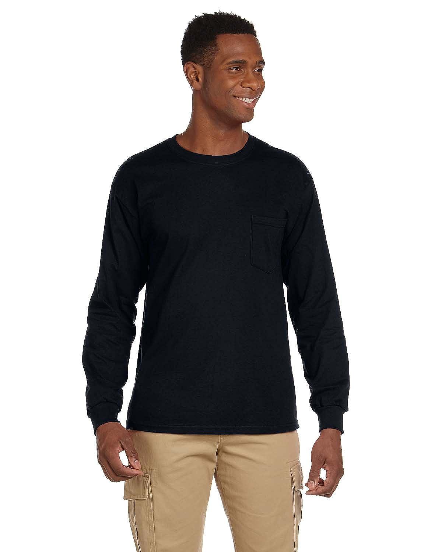 0efcc948761 Gildan Ultra Cotton 6 oz. Long-Sleeve Pocket T-Shirt (G241) BLACK ...