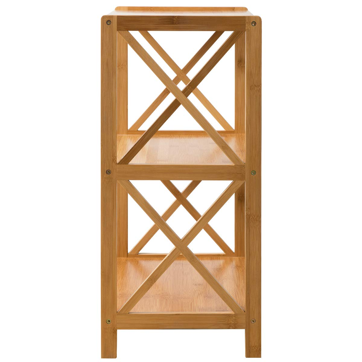 HollyHOME 3 Tier 100% Bamboo Bathroom Kitchen Living Room Shelf, Plant and Flowers Stand Utility Storage Shelf,Multifunctional Storage Rack Shelving Unit End Table, 16.38''x11.63''x25.51'' by HollyHOME (Image #9)