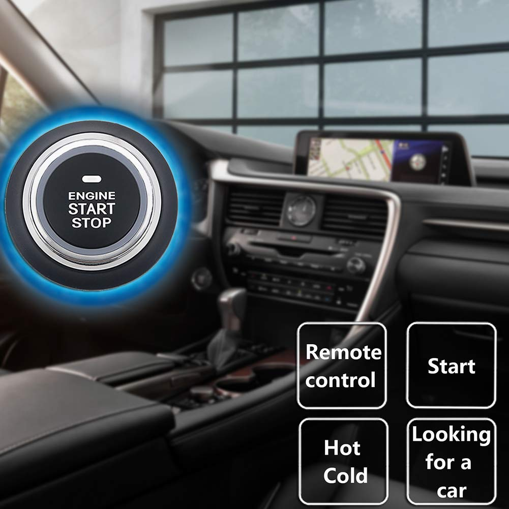 ROWEQPP Auto Car Alarm Engine Starline Push Button Start Stop RFID Lock Ignition Switch Keyless Entry System Starter Anti-Theft System