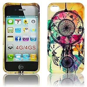 Thematys - Carcasa para iPhone 4 y 4S (silicona) diseño de atrapasueños