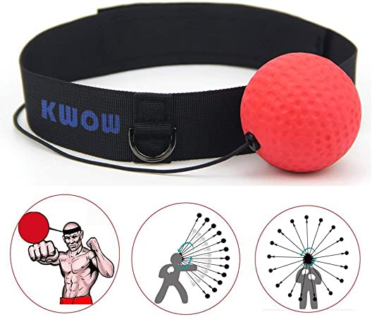 Boxing Rubber Punch Exercise Fight Ball With Head Band Speed Training Fo Z4I8