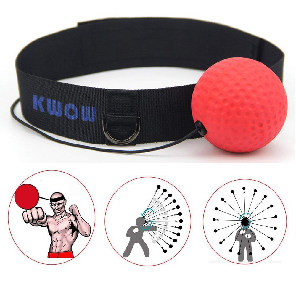Kwow Balle de boxe, Speed Ball avec bandeau pour adultes/enfants Giga Technology