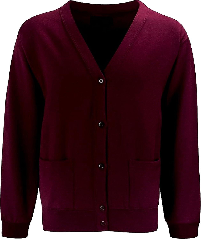 Maroon Skooleez School Uniform Fleece Sweat Cardigan