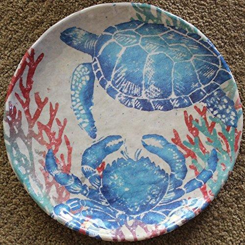 "222 Fifth Sealife 100% Melamine 8.75"" Salad Plates - Set of"