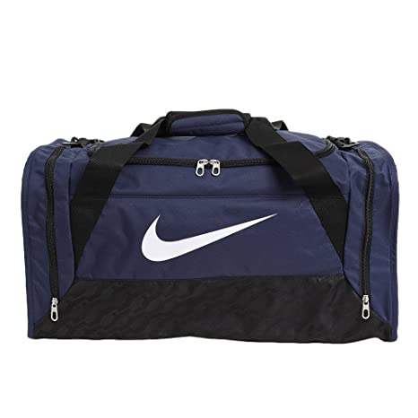 7c6bf6730d Nike- Brasilia 6 Medium Duffel Bag Midnight Navy Black White  Amazon ...
