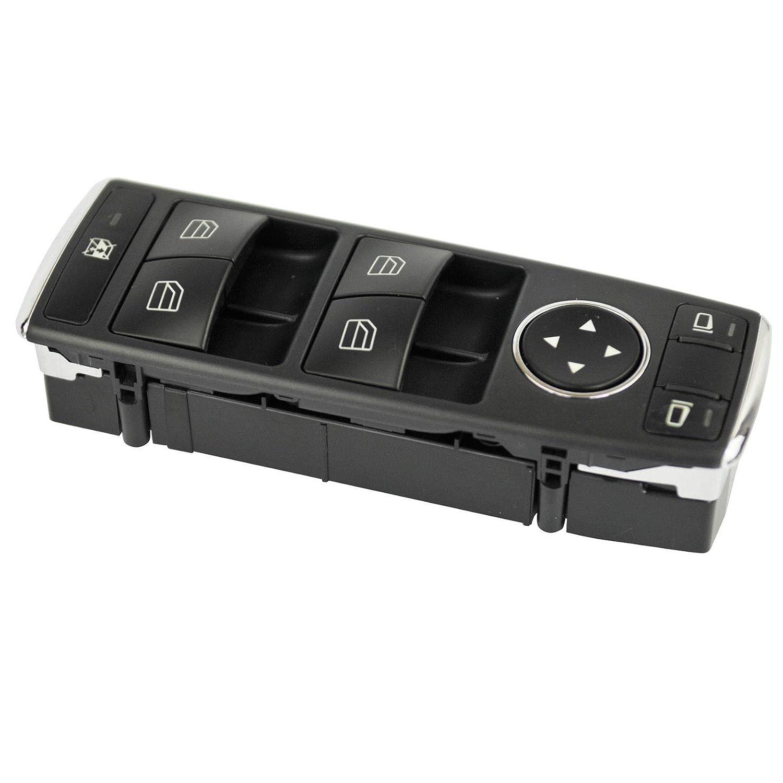 Studyset Interruptor de Control de Ventana Delantera Izquierda para Coche para Mercedes-Benz W212 S212 C250 C300 C350 C63 E350 E550 E250 A2049055302 2049055302