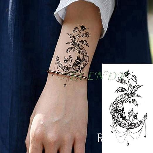 tzxdbh 3Pcs-Waterproof Tattoo Sticker Feather Rose Triangle Tattoo ...
