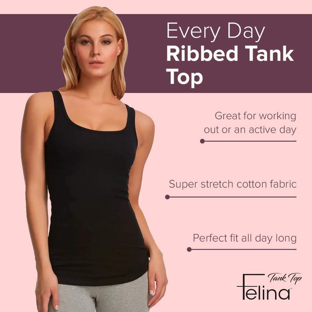 Felina Women/'s 3-Pack Layering Tank Tops Various Colors /& Sizes