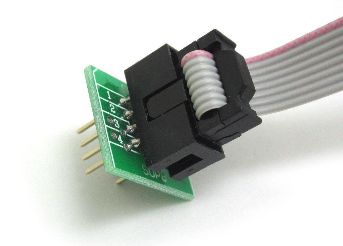 ARCELI SOIC8 SOP8 Test Clip f/ür EEPROM 93CXX 25CXX 24CXX In-Circuit-Programmierung 2 Adapter