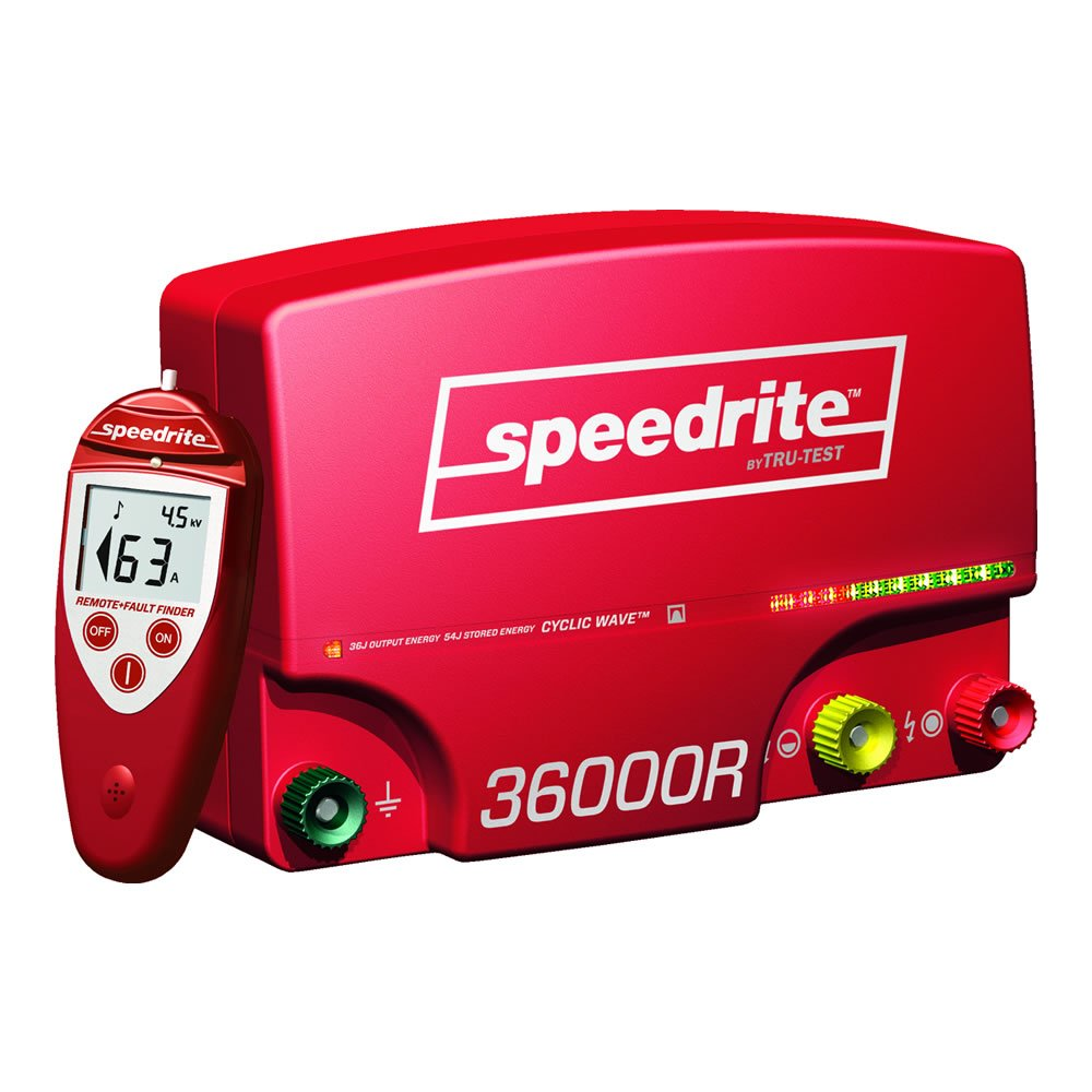 Speedrite 36000RS Remote Fence Energizer, 36 Joule by Speedrite